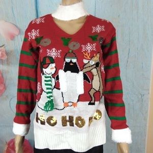 Planet Gold NWT Christmas Ugly Sweater Size S